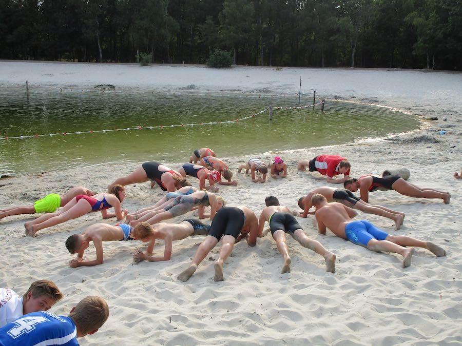 Geslaagde afsluitende zwemtraining in de Zwarte Dennen