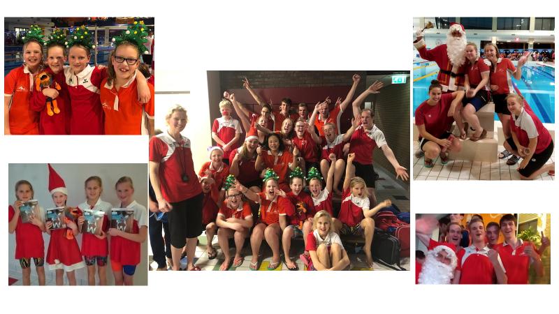 Geslaagde Kerstestafette en sponsoractie voor Stichting ALS door zwemmers MZ&PC de Reest!